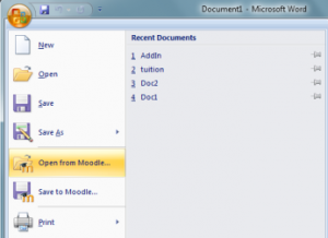 Office Add-in voor Moodle