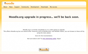 Moodle.org upgrade in progress… we'll be back soon