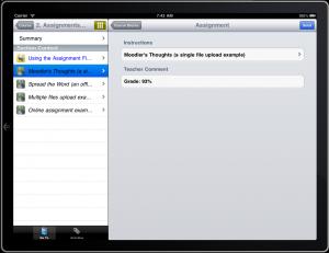 Nieuwe versie iPad app voor Moodle