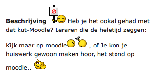 Beschrijving Anti-Moodle-Hyve