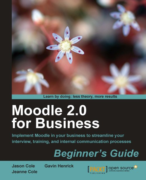 Goede review op boek Moodle 2.0 for Business
