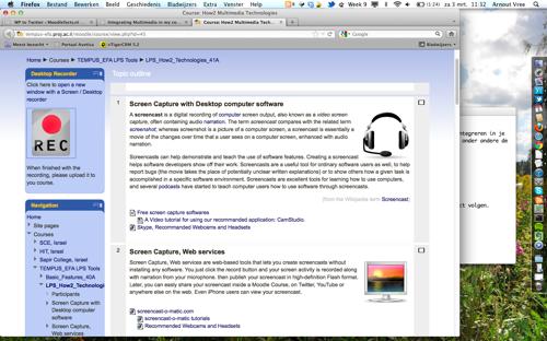 Screendump How2 Multimedia Technologies
