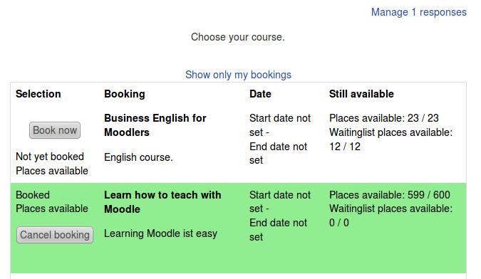 Module Booking