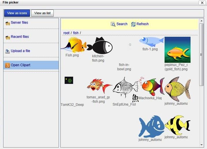 Afbeeldingen toevoegen in Moodle vanuit de Open Clip Art repository