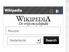 Direct vanuit je Moodle cursus zoeken in Wikipedia