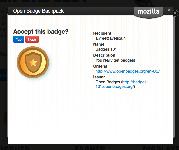 OpenBadges BackPack