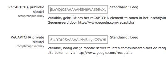ReCAPTCHA configureren in Moodle