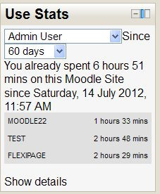 Moodle Use Stats