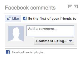 Facebook like en comments blok