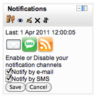 Moodle notification blok