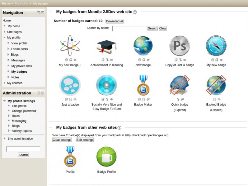 Vooruitblik Moodle 2.5: Open Badges