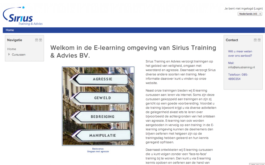 Moodle - Sirius training en advies