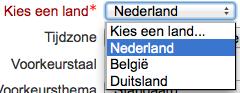 Landcode lijst