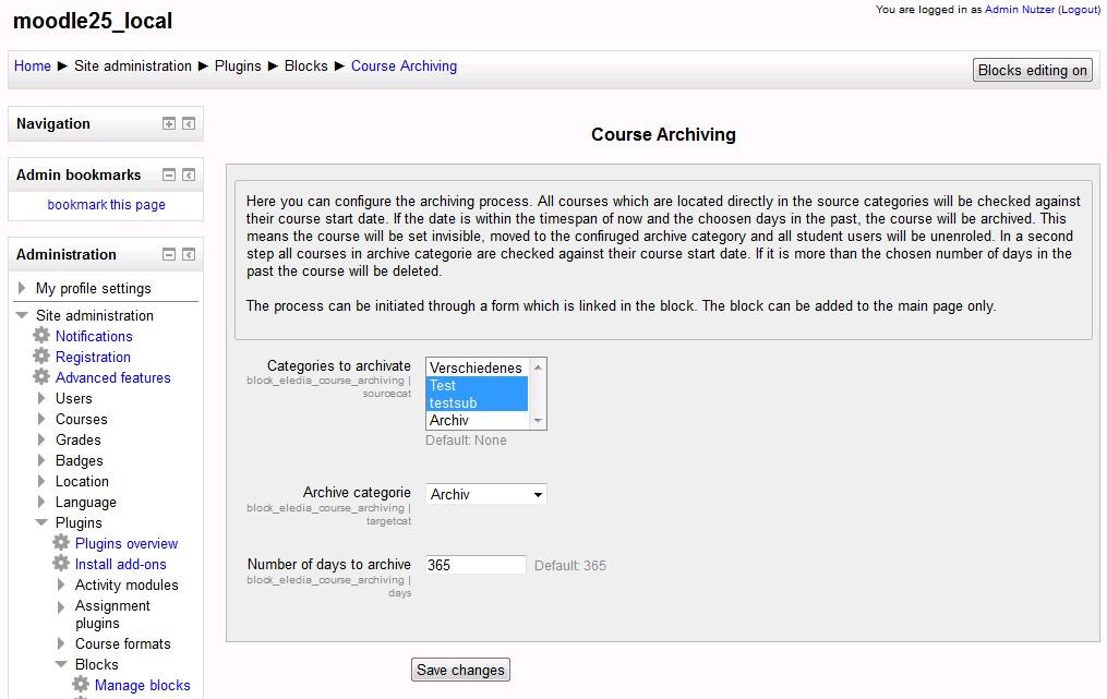 Automatisch archiveren van Moodle cursussen