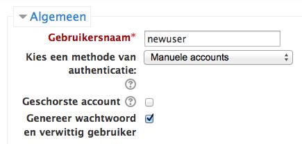 Automatische mail met wachtwoord naar nieuwe Moodle gebruiker
