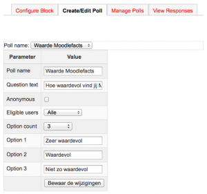 Poll configuratie