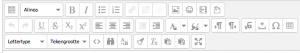 Teksteditor geopend