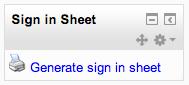 Signin Sheet Moodle