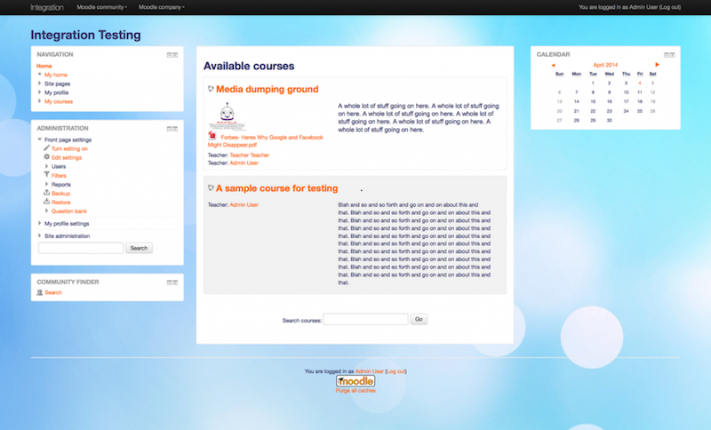 More responsive Moodle thema
