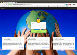 Homepage Moodle template Evolve-D