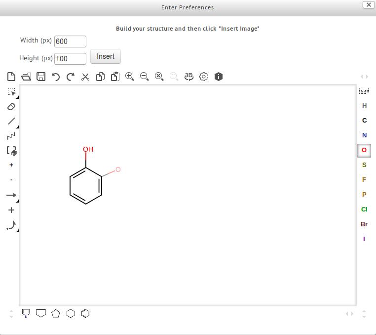 Moodle teken chemische structuren