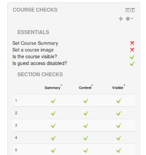 Check je Moodle cursus op essentiële onderdelen