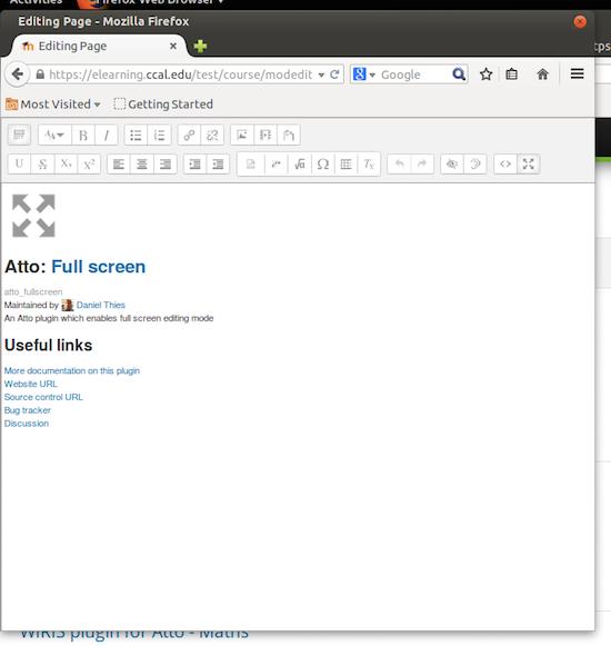 Atto teksteditor in volledig scherm