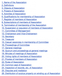Index Moodle Association doc