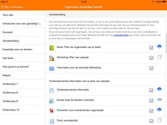 Moodle Mobile screendump