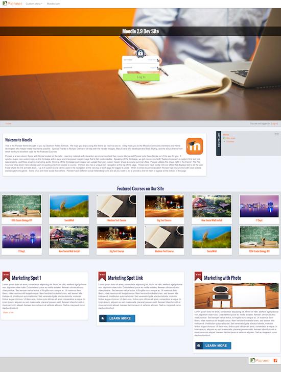 Moodle Pioneer Homepage