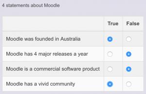 Moodle vraagtype plugin: 4 stellingen