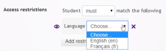 Beperk toegang op basis van je taal