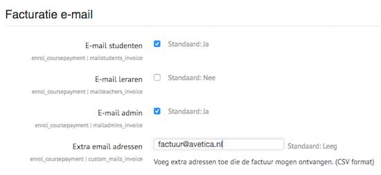 Update CoursePayments: verstuur facturen aan speciale e-mailadressen