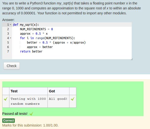 CodeRunner programmeer vraagtype voor Moodle