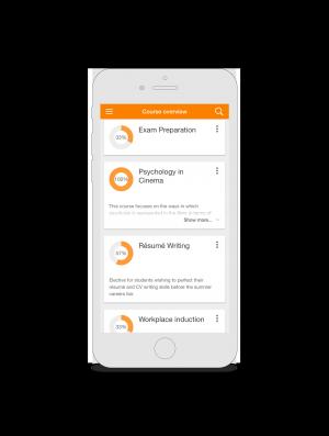 Vooruitblik Moodle 3.4: promotie gebruik Mobile app