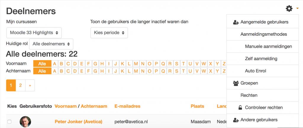 Vooruitblik Moodle 3.4: Samenvoegen deelnemers en aangemelde gebruikers