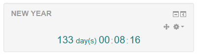 Final countdown in Moodle