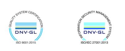 Avetica is ISO 9001 én 27001 gecertificeerd