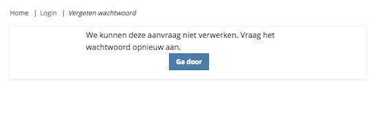 Nieuw wachtwoord in Moodle werkt niet?