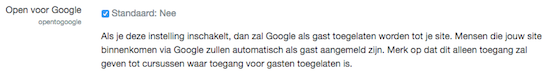Moodle Security (11): Open voor Google?