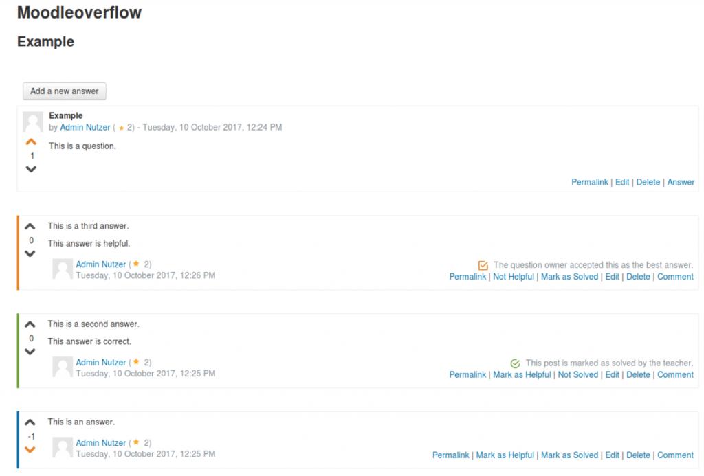 Moodle nieuw Forum als plugin