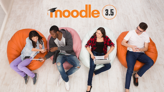 Nieuw overzicht Moodle functionaliteit per versie 3.5