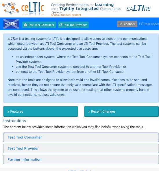 saLTIre - testing LTI tool